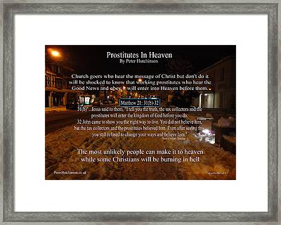 Prostitutes In Heaven Framed Print by Bible Verse Pictures