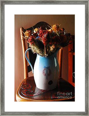 Protea Arrangement Framed Print by Werner Van den Berg