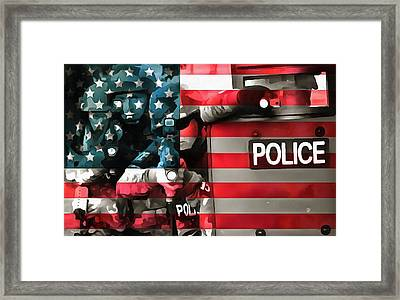 Protect And Serve Framed Print by Dan Sproul