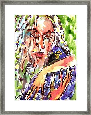 Protect Our Birds Framed Print by Ramona Wright