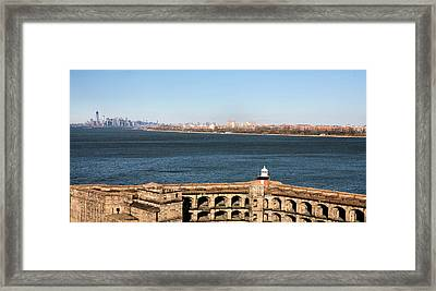 Protecting New York Framed Print