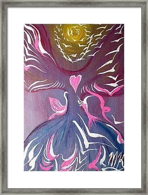 Protection Angel Framed Print by Michaela Kraemer