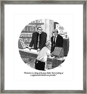 Protection Is A Thing Framed Print