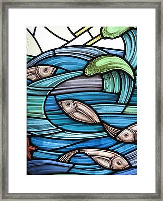 Protection Island Seascape Framed Print by Gilroy Stained Glass