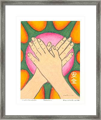 Protection - Mudra Mandala Framed Print