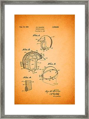 Protective Driving Helmet Patent 1956 Framed Print