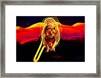 Framed Print featuring the painting Protector Of The Eye by Persephone Artworks