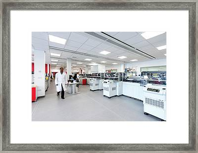 Protein Research Laboratory Framed Print