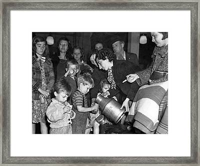 Protest Against Pay Cuts Framed Print