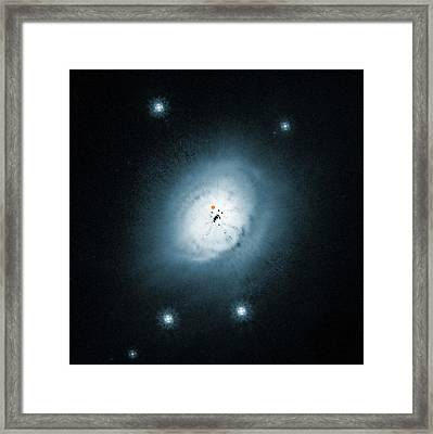 Protoplanet Orbiting A Star Framed Print by Eso/nasa/esa/ardila Et Al.