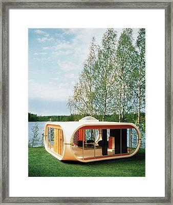 Prototype Of Polykem Molded House Framed Print