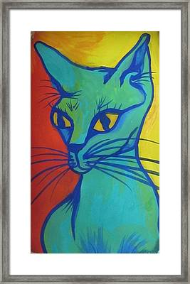 Proud Cat Framed Print by Cherie Sexsmith