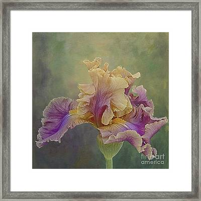 Framed Print featuring the photograph Proud Iris by Vicki DeVico