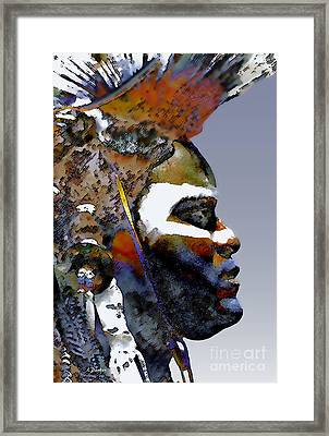 Proud Native American Framed Print