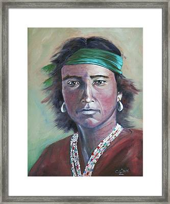 Proud Navajo Framed Print