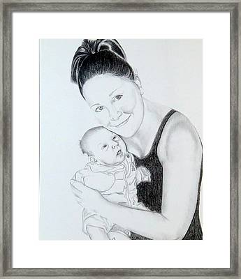 Framed Print featuring the drawing Proud Parent by Sharon Schultz