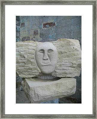 Proud Smiling Face Framed Print by Stephen Nicholson