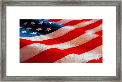 Proud To Be American Framed Print by Jon Neidert