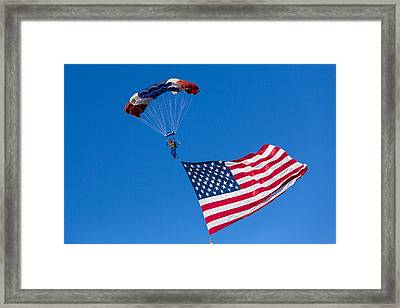 Proud To Be An American Framed Print by Caitlyn  Grasso