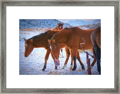 Proud To Be An American Icon Of The West Framed Print by Jeanne  Bencich-Nations