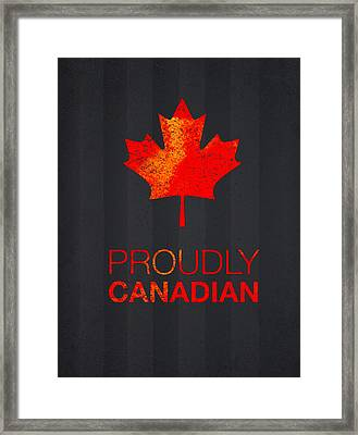 Proudly Canadian Framed Print by Aged Pixel