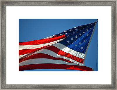 Proudly She Waves - Old Glory Framed Print by rd Erickson