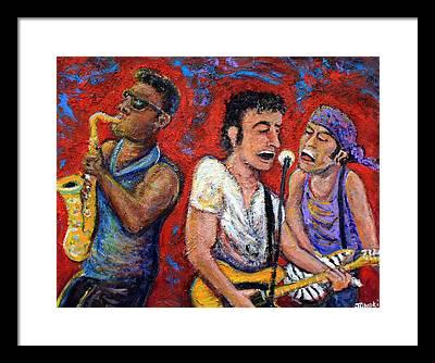 Bruce Springsteen Rock N Roll Framed Prints