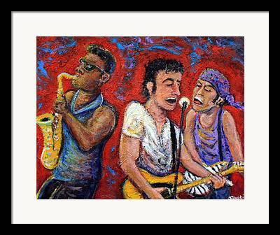 E Street Band Paintings Framed Prints