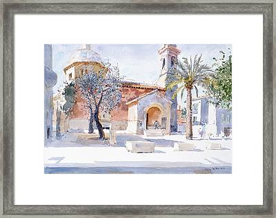 Provencal Church Framed Print by Lucy Willis