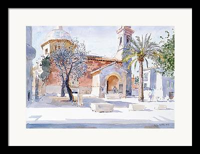 Southern France Drawings Framed Prints
