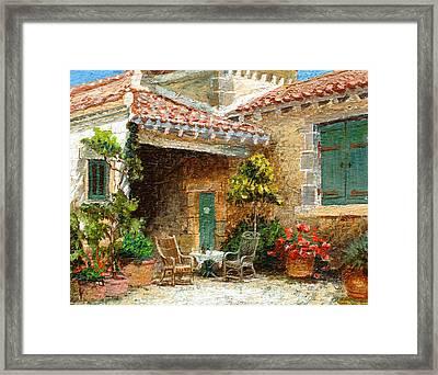 Provence Barn, 2006 Oil On Board Framed Print by Trevor Neal
