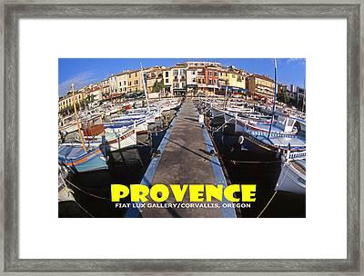 Provence Fisheye View II Framed Print