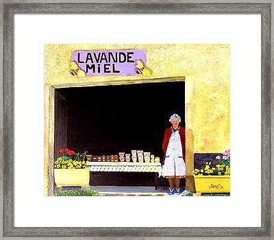 Provence Honey Shoppe Framed Print