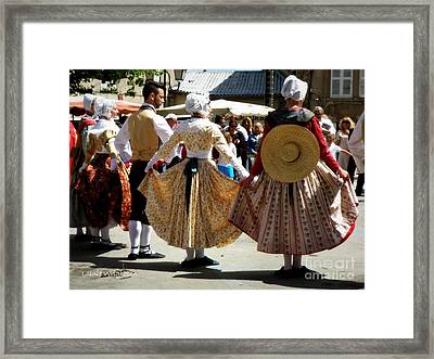 Provence Traditional Dance Framed Print by Lainie Wrightson