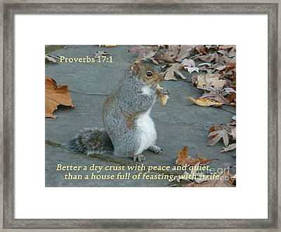 Proverbs 17-1 Framed Print