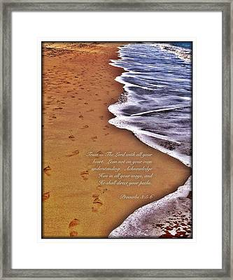Proverbs 3 5 Framed Print
