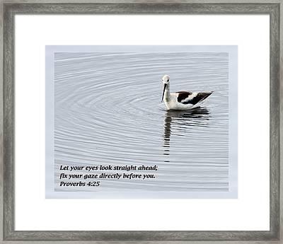 Proverbs 4 25 Framed Print