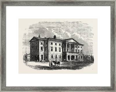 Province Building, Charlotte Town, Prince Edward Island Framed Print by English School