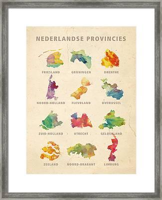 Provinces Of Holland Framed Print