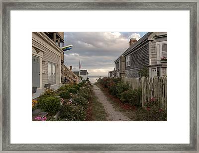Provincetown Alley Framed Print