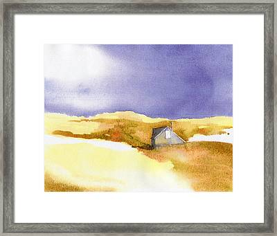 Provincetown Dune Shack Framed Print by Joseph Gallant