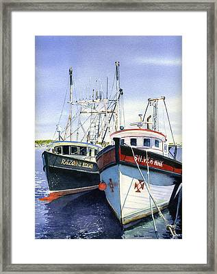 Provincetown Fishing Boats Framed Print by Heidi Gallo