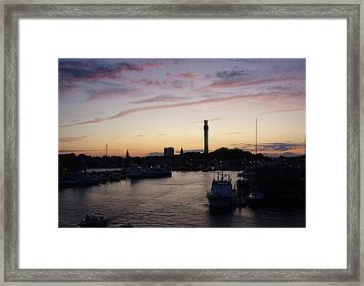 Provincetown Sunset Framed Print by Robert Nickologianis