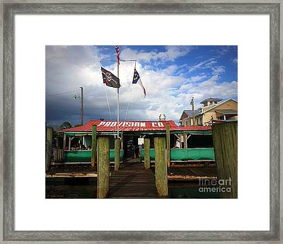 Provision Co - Southport Nc Framed Print
