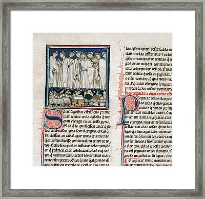 Provision Of Payment For Clergy Framed Print by British Library