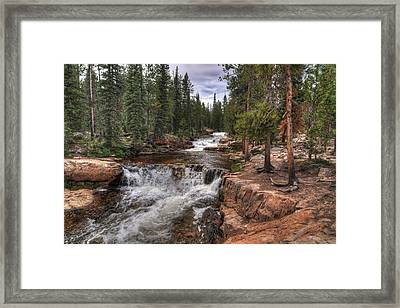 Provo River Falls Framed Print by Jeremy Farnsworth