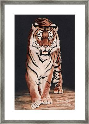 Framed Print featuring the painting Prowl by DiDi Higginbotham