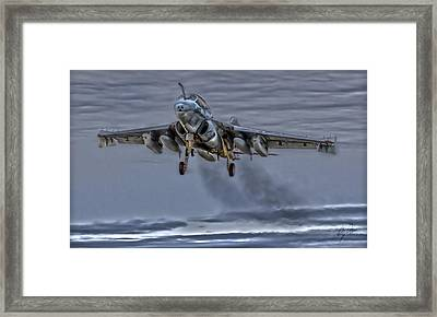 Prowler On Final Framed Print by Clay Greunke