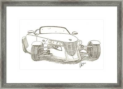 Prowler Sketch Framed Print by Chris Thomas