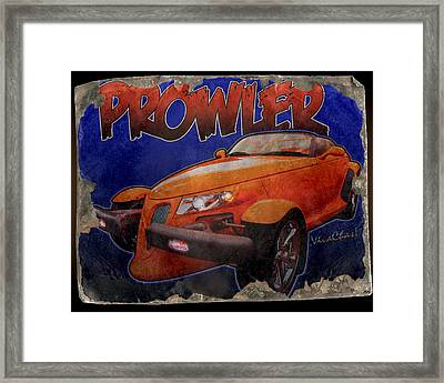 Prowler Tin Sign Discovered In 2153 Framed Print